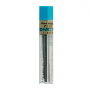 Pentel Super Hi-Polymer - 0.7mm tube of 12 leads 50