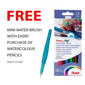 Pentel Watercolour Pencils - Sets of 12 or 24 CB9