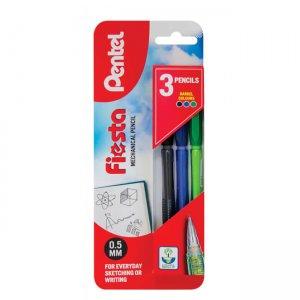 Pentel Fiesta 0.5mm Mechanical Pencil triple pack XAX105/3-ACD
