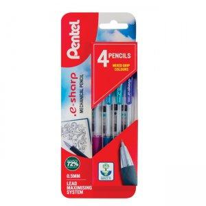 Pentel e-Sharp Mechanical Pencil 0.5mm 4 pack XAZ125/4-M