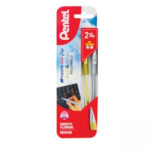 Pentel Hybrid Gel Grip twin pack XK118/2-XZ
