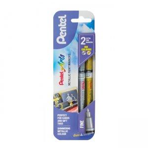 Pentel Fine Point Metallic Paint Marker twin pack XMSP10/2-XZ