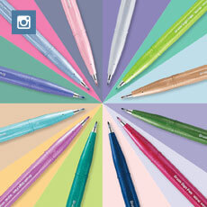 12 new beautiful colours of Brush Sign Pen now available.
